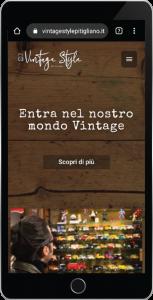 Realizzazione sito web www.vintagestylepitigliano.it versione mobile